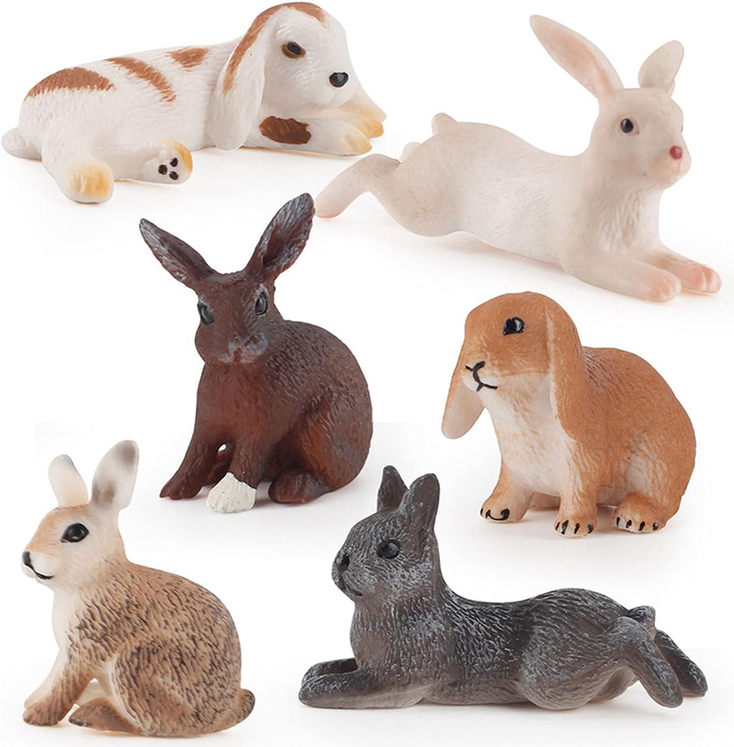 Sales for sale JOKFEICE Animal Figures 6pcs Ranking TOP3 Plastic Action Animals Rabbit Model