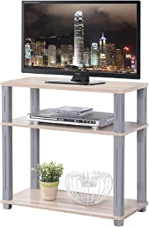 4D Concepts College Collection Stand, Medium, Walnut and Grey