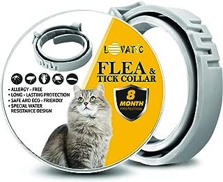 GOTTARD Flea Collar for Cats - Adjustable, Hypoallergenic Cat Collar - Waterproof and Durable Cat Flea Treatment - 100% Natural Flea Collar for Cats [Upgrade Version]