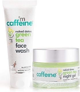mCaffeine Night Hydration Routine   Dirt Removal, Moisturization   Face Wash, Night Gel   All Skin   Paraben & SLS Free