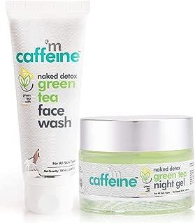 mCaffeine Night Hydration Routine | Dirt Removal, Moisturization | Face Wash, Night Gel | All Skin | Paraben & SLS Free