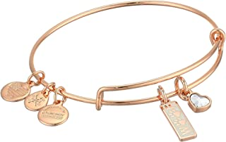 Alex and Ani Duo Charm Meow and Woof Bangle Bracelet Rose Gold/Woof One Size