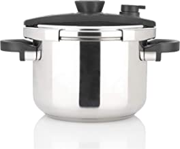 Zavor EZLock 6 Quart Dual-Setting Pressure Cooker with Universal Locking Mechanism and..
