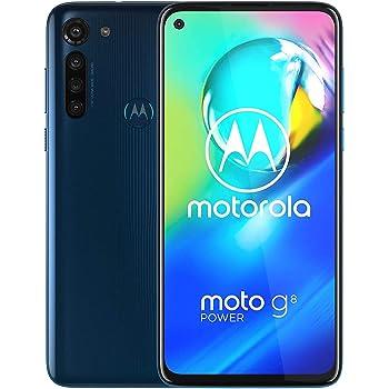 "Motorola Moto G8 Power w/ 5000 mAh Battery (64GB, 4GB) 6.4"" Dual SIM GSM Factory Unlocked, Global 4G LTE International Version (at&T/T-Mobile/MetroPCS/Cricket/H2O) XT2041-1 (64GB SD+Case Bundle) Blue"