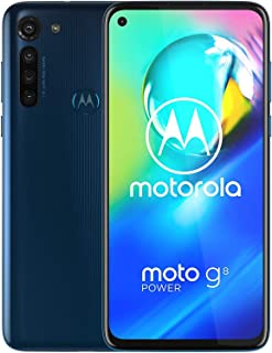 "Motorola Moto G8 Power w/ 5000 mAh Battery (64GB, 4GB) 6.4"" Dual SIM GSM Factory Unlocked, Global 4G LTE International Version (at&T/T-Mobile/MetroPCS/Cricket/H2O) XT2041-1 (64GB SD+Case Bundle) Blue"