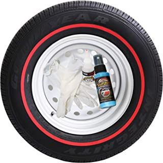 Tire Stickers Red Line Tire Add-On Rubber Stripe Kit - DIY Redline Applies to Any Tire with Glue Included - Custom Sizing/Thickness
