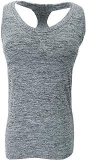Baosity Womens Sports Gym Racer Back Running Vest Fitness Jogging Yoga Padded Vest Top