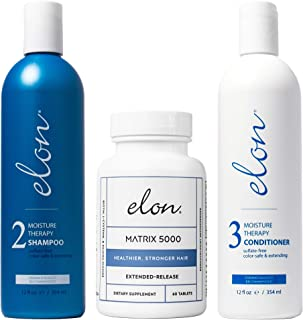 Elon Thinning Hair System - Maintenance   Dermatologist Recommended   Elon Moisture Therapy Shampoo, Elon M...