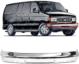 MBI AUTO - Chrome, Steel Front Bumper Face Bar Shell for 1992-2007 Ford Econoline Van E150 E250 E350 92-07, FO1002348
