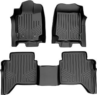 SMARTLINER Custom Fit Floor Mats 2 Row Liner Set Black for 2015-2018 Ford Ranger Crew Cab Export Model