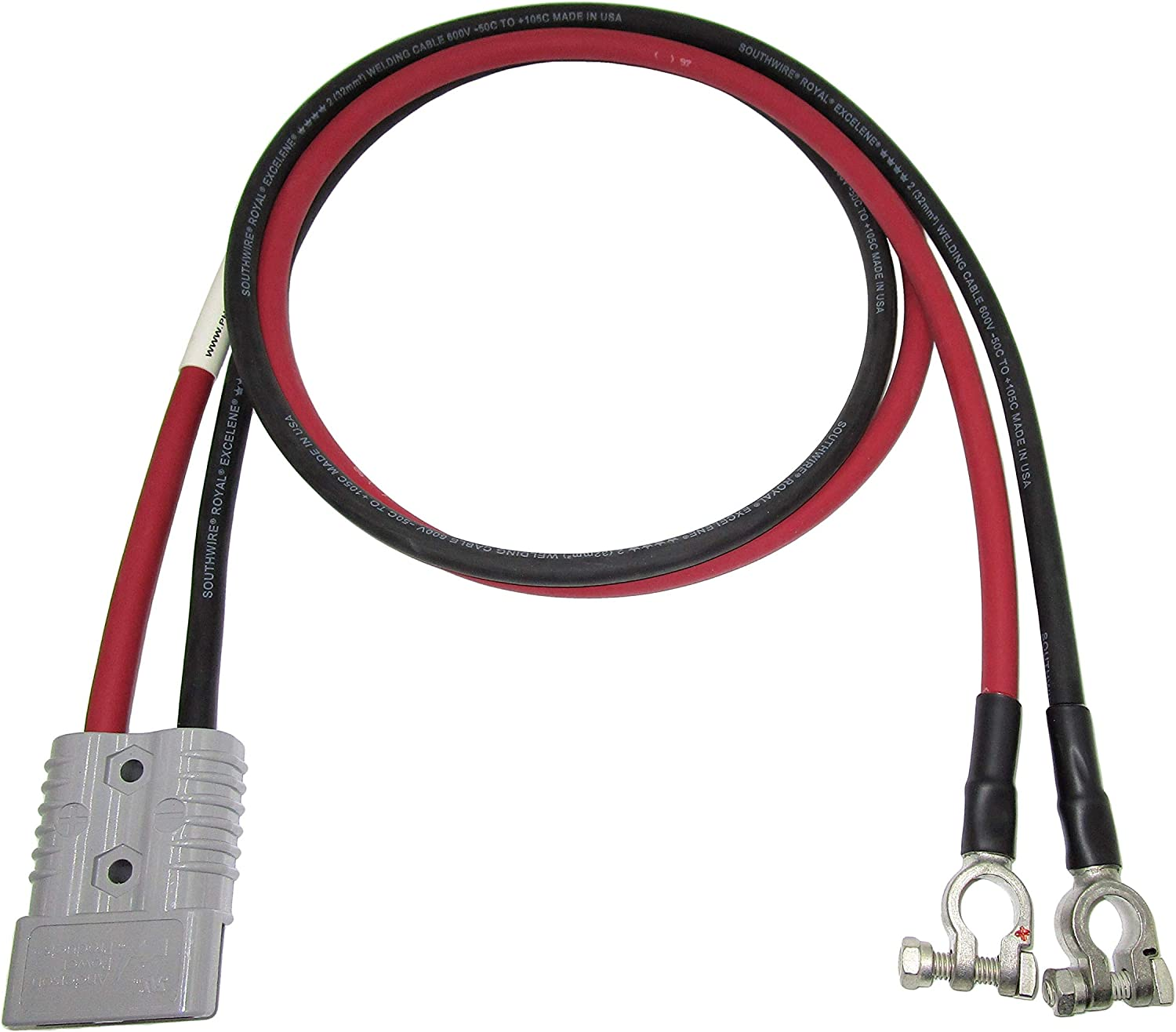 175 Amp SB175 Quick-Connect Battery Cable with Length /& Connectors Options