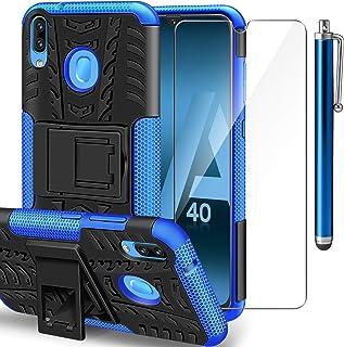 MoreChioce Funda Compatible con Samsung Galaxy A40,Carcasa Galaxy A40 Ultra-Delgado PC Duro Cover Estuche,Mate Anti-ara/ñazos y Antideslizante Protectora Sedoso Caso,Azul Oscuro