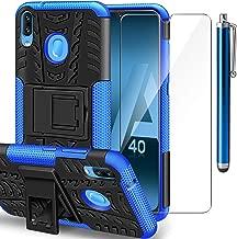 ivencase Funda Samsung Galaxy A40 + Protector de Pantalla, Samsung A40 2 en 1 Duro PC Funda y Soft TPU Cáscara de Cubierta Protectora de Doble Funda Caso para Samsung Galaxy A40