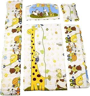 100 * 58cm/110 * 60cm 5pcs/Set Promotion Cotton Baby Children Bedding Set Comfortable Crib Bumper Baby Organizer Cot Kit