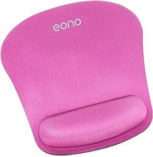 [Amazonブランド] Eono(イオーノ) - マウスパッド リストレスト一体型 手首クッション マウスパッド 疲労軽減 人間工学 滑り止め 防水 耐久性 水洗い ゲーム 仕事用 - ローズ