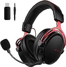 Mpow Auriculares Gaming para PS4, PC, Xbox One, Estéreo Cascos Inalámbricos para Juegos con Micrófono con Cancelación de R...
