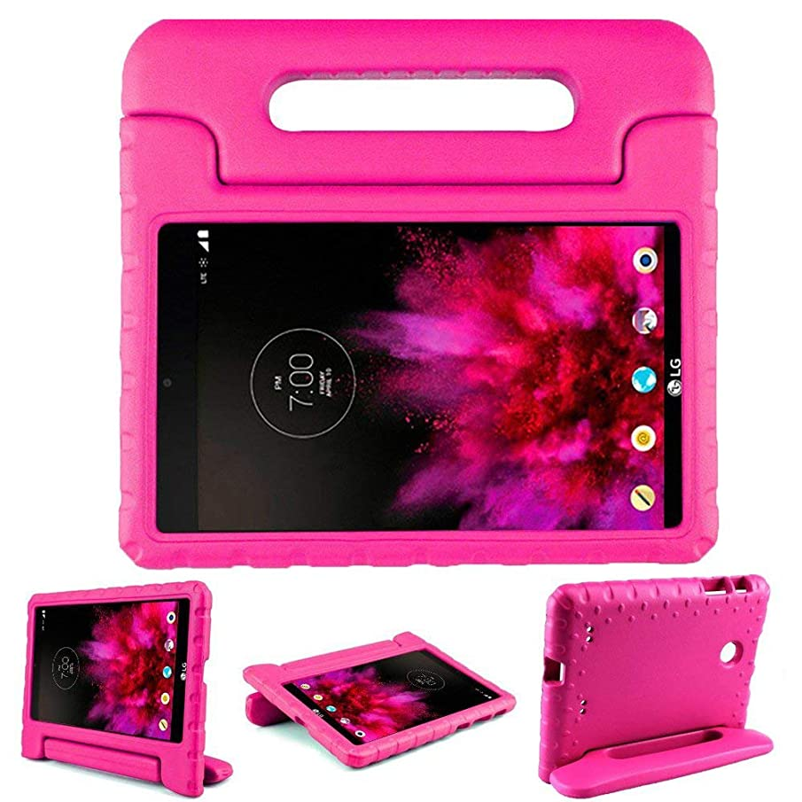 Bolete LG G PAD 7.0 Case Kiddie Toddler Kids ShockProof Light Weight Super Protection Handle Stand Cover Case for LG G Pad V400/V410 (LTE)/VK410/UK410/LK430 (G Pad F7.0) 7-Inch Android Tablet, Rose