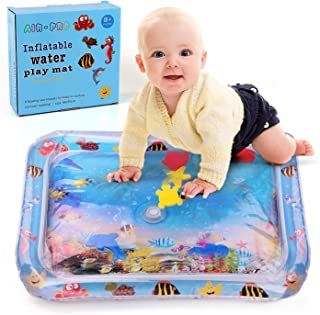 HAINFO Inflatable Water Play Mat for Babies Tummy Time Premium Water Mat Activity Infants & Toddlers Toys Leakproof BPA Free Water Mat Toys for Baby's Stimulation Growth