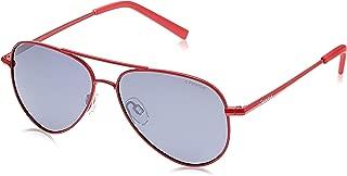 Polaroid Kids' Sunglasses, Shiny Red/Grey Silmir Pz, 52 (PLD 8015/N JB 39Y 39Y)