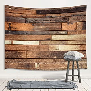 Rustic Wooden Board Wall Tapestry Wall Hanging, Vintage Wood Plank Farm House Floor Premium Home Art Wall Decor, Upgrade Tapestries for Bedroom Living Room College Dorm 71X60 Inches
