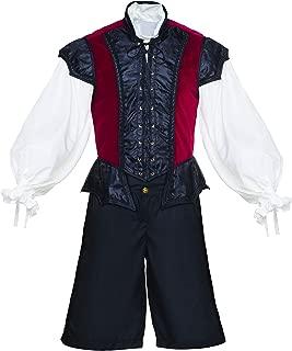 Men's Renaissance 3 Piece Ren Faire Doublet Costume Game of Thrones Cosplay