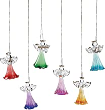 Fun Express - Colored Glass Angel Ornaments (dz) for Christmas - Home Decor - Ornaments - Religious - Christmas - 12 Pieces