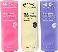 Eos Ultra Moisturizing Shave Cream Variety Pack: Pomegranate-Raspberry, Lavender Jasmine, Vanilla Bliss - 3 x 7.0 Ounce