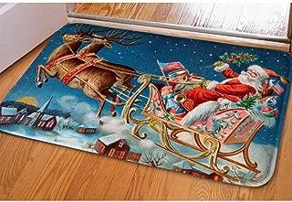 Showudesigns Horse Santa Claus Print Door Mat Welcome Indoor/Outdoor Area Rugs Bedroom Bathroom Doormats Christmas Home Decor