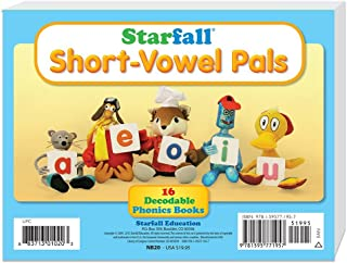 Starfall Short-Vowel Pals 16 Decodable Phonics Books