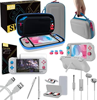 Switch Lite Accessories Bundle, includes: Case & Screen Protectors [Tempered Glass] for Nintendo Switch Lite (2019), Comfo...