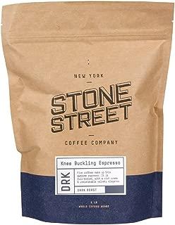 Stone Street Coffee Knee Buckling Espresso High Caffeine Whole Bean Coffee, 1 lb. Bag, Medium Dark Roast