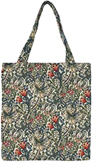 Signare Tapestry Reusable Grocery Eco Friendly Shopping Tote Bag in William Morris Design