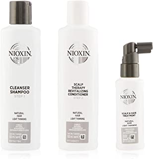 Nioxin System 1 Trial Kit for Natural Hair with Light Thinning, 350ml