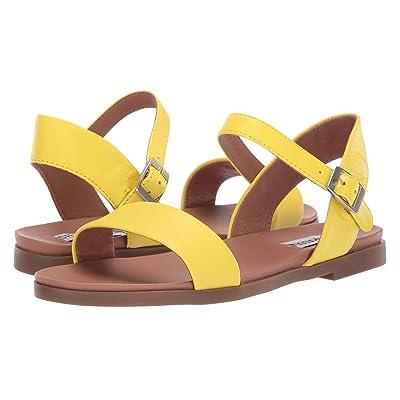 Steve Madden Dina Flat Sandals (Yellow) Women