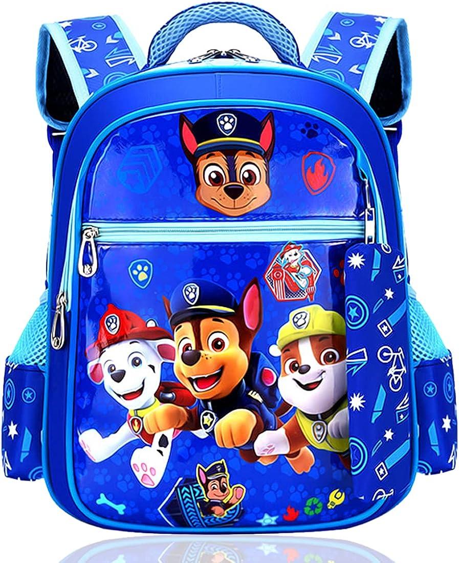 Tomicy Mochilas Infantiles Guarderia Mochilas Infantiles Patrulla Canina Bolsas Escolares De Dibujos Animados para Niñas Y Niños De 3 A 6 Años Azul
