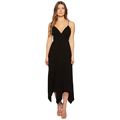 Boutique Moschino Crepe Maxi Dress with Sweetheart Neck and Open Back (Black) Women
