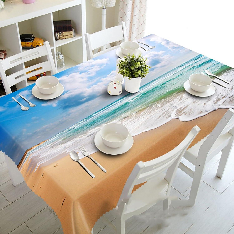 Unbekannt Küchenwäsche Große Wellen-Blaumen-Bettlaken-Tischdecke 3D Rechteck-Tisch-Matte - umweltfreundlich und geruchlos - Digitaldruck wasserdicht (größe   Round 274cm) B07D52X3FZ Reparieren    | Genial Und Praktisch