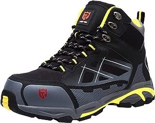 Zapatillas de Seguridad Hombre LM-18 Zapatos de Seguridad Antideslizantes con Punta de Acero Antipinchazos Calzados de Trabajo 42.5 EU,Gris