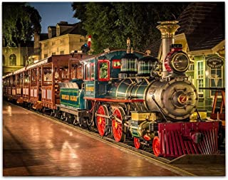 Disneyland Train E. P. Ripey - 11x14 Unframed Art Print - Great Gift Under $15 for Disney Lovers