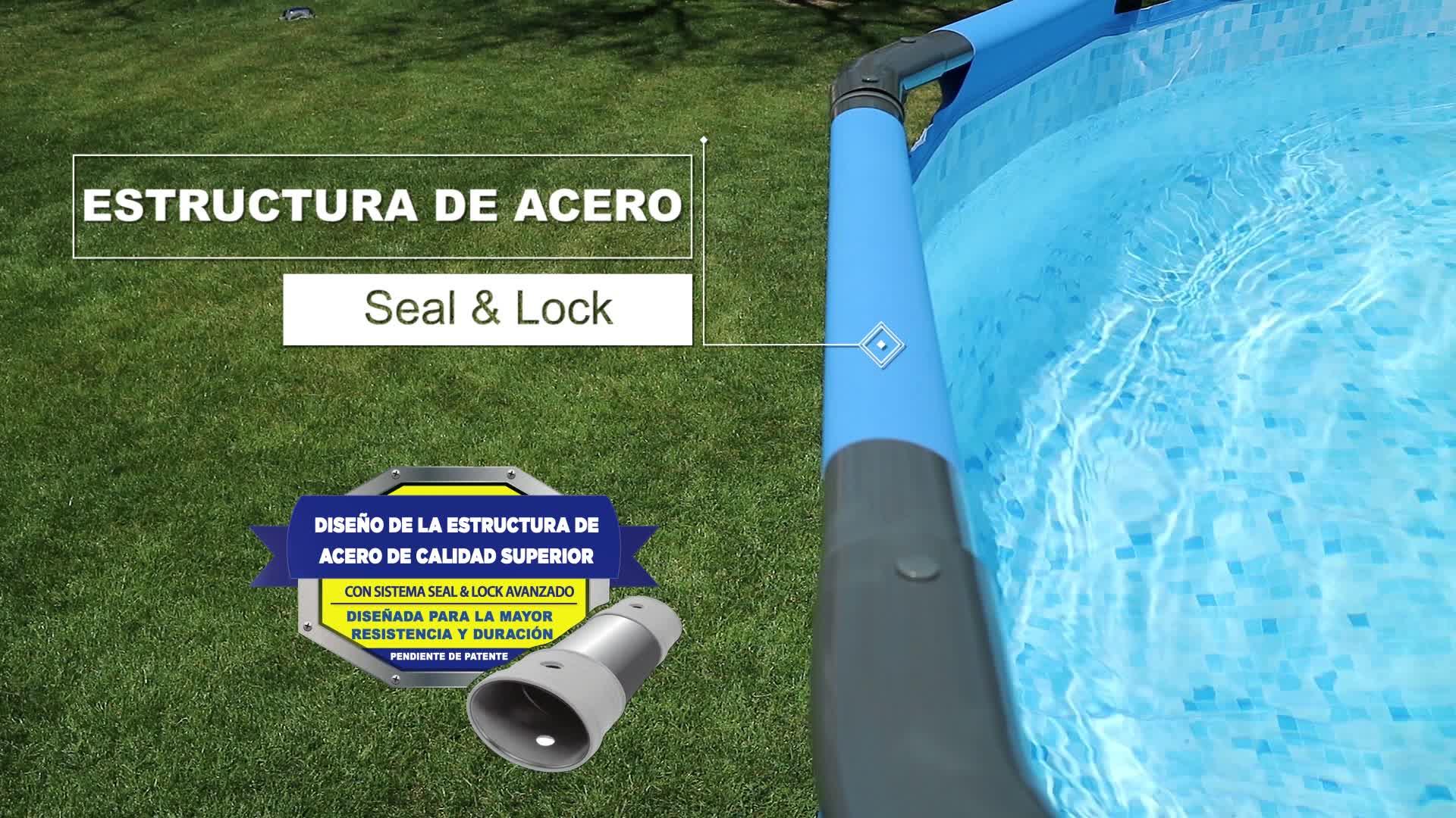 BESTWAY 56408D – Piscina Desmontable Tubular Steel Pro Max con Depuradora Cartucho 1.249 L/H