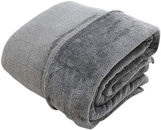 2枚合わせ 中綿入り 毛布 シングルサイズ グレー(140×200cm) ボリュームタイプ