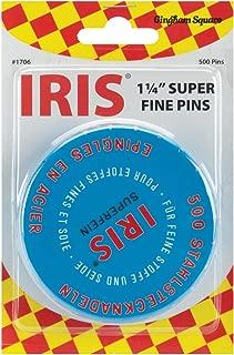 Euro-Notions Iris Swiss Pins, 500-Pack