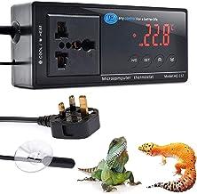 Reptiel Thermostaat, Terrarium Verwarming Temperatuurregelaar Outlet Digitale LED met zuignap voor Reptielen Aquaria Insec...