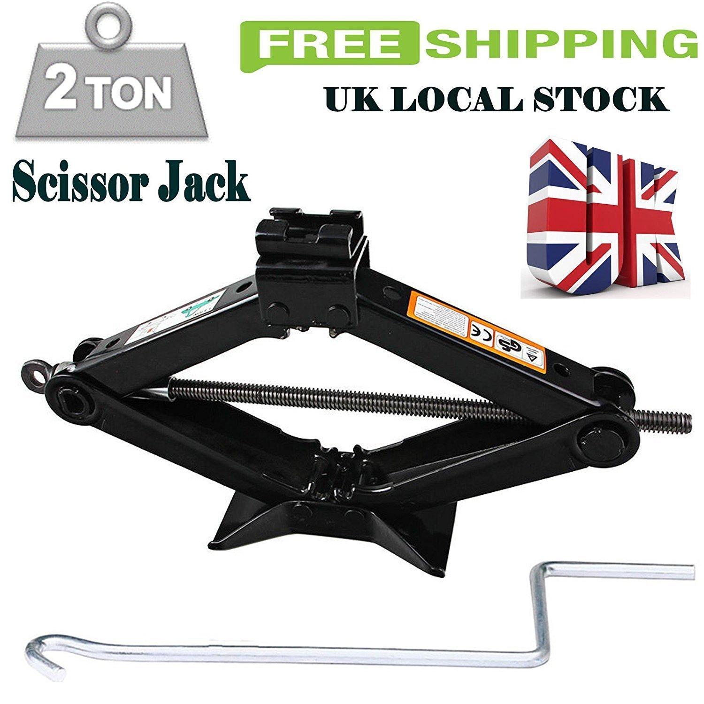 Speed Wind Crank Handle Goodyear 1 Ton Professional Scissor Jack for Car Van