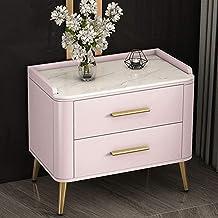 Modern 2 Drawer Bedside Side End Table Nightstand Bedroom Living Room Storage Unit (Color : Gray)