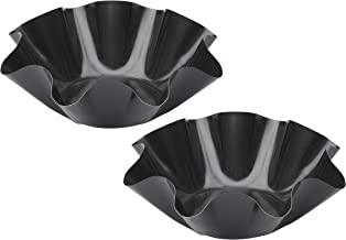 HIC Harold Import 43741 Tortilla Bowl Maker, Set of 2, Non-Stick Black Baking Pans