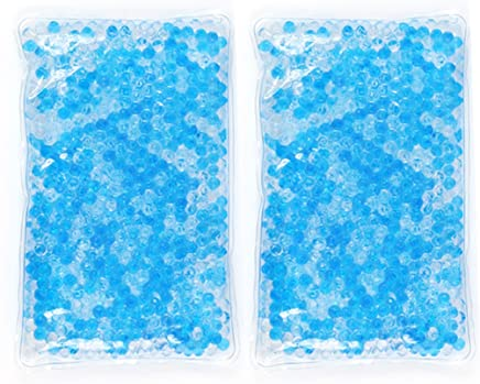 Gel Beads Hot & Cold Compress Pack – 2-Pack – Innovative Reusable Gel Bead