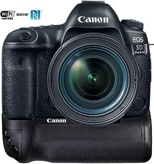 Canon 1483C018 EOS 5D Mark IV 30.4 MP Full Frame CMOS DSLR Camera with EF 24-70mm f/4L is USM Lens Bundle BG-E20 Battery Grip