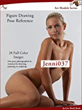 Art Models Jenni037: Figure Drawing Pose Reference (Art Models Poses) (English Edition)