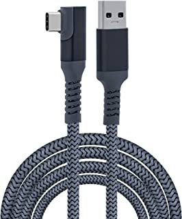 Mcbazel Oculus Link Cable 6m Braided Type-C to USB 3.0 Fast Charging Transfer Right Angle for Oculus Quest/Quest 2/PS5/ Xb...